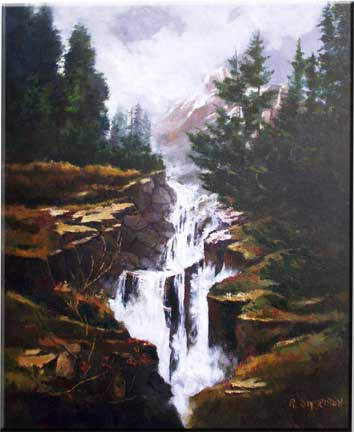 The Falls Oil Painting