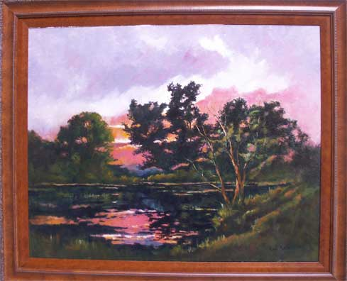 Photo of Lake Reflections Painting