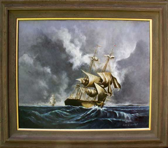 Squall on Cape Horn Oil Painting Photo