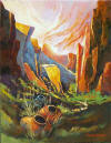 Shadow Canyon Oil Painting