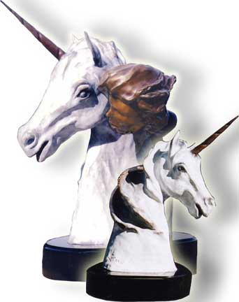 Whispers to a Unicorn Bronze Sculpture