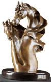 Mares of the Mist Bronze Sculpture