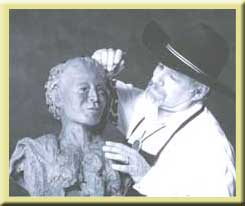 Photo of Ron sculpting